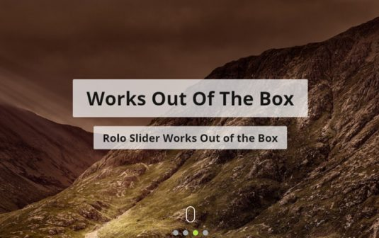 Rolo Slider WordPress Plugin With Ken Burns Effect