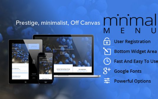 Minimal Responsive Off Canvas Menu