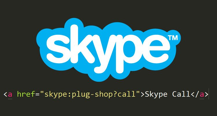 How to create HTML link that starts a Skype call